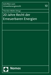 20 Jahre Recht der Erneuerbaren Energien Nomos