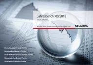 zum 31.03.2013 - Nomura Asset Management Deutschland KAG mbH