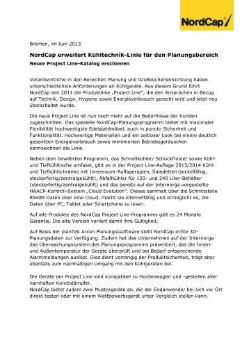 NordCap erweitert Kühltechnik-Linie für den Planungsbereich
