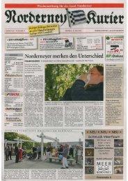 Norderney Kurier 31.05.2013 - Chronik der Insel Norderney