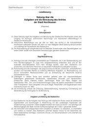 - Lesefassung - Satzung über die Aufgaben und ... - Stadt Nordhausen