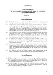 1.3 Geschäftsordnung - Stadt Nordhausen