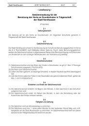 - Lesefassung - Gebührensatzung für die ... - Stadt Nordhausen