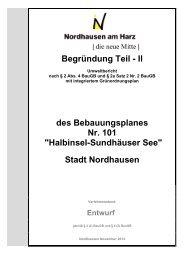 Umweltbericht - Stadt Nordhausen
