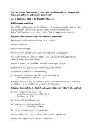 Liste der Denkmale - Stadt Nordhausen
