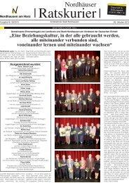"""""""Eine Beziehungskultur, in der alle gebraucht ... - Stadt Nordhausen"""