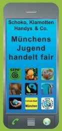 Münchens Jugend handelt fair - Nord Süd Forum München
