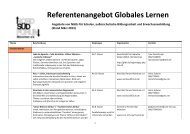Referentenangebot Globales Lernen - Nord Süd Forum München