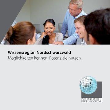 Kooperationsmöglichkeiten - Wirtschaftsförderung Nordschwarzwald