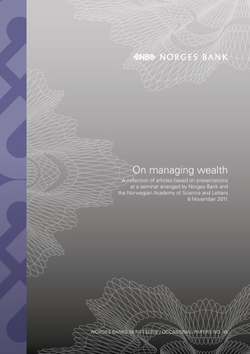 On managing wealth: A collection of articles ... a seminar arranged ...