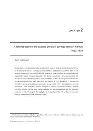 CHAPTER 2 A reconstruction of the balance sheets ... - Norges Bank