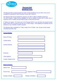 Racquet Hall Booking Form - North Ayrshire Council