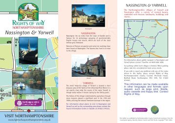 Nassington and Yarwell - Northamptonshire County Council