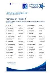 Seminar on Priority 1 - Interreg IVB North Sea Region Programme