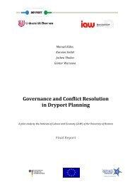Governance report - Interreg IVB North Sea Region Programme