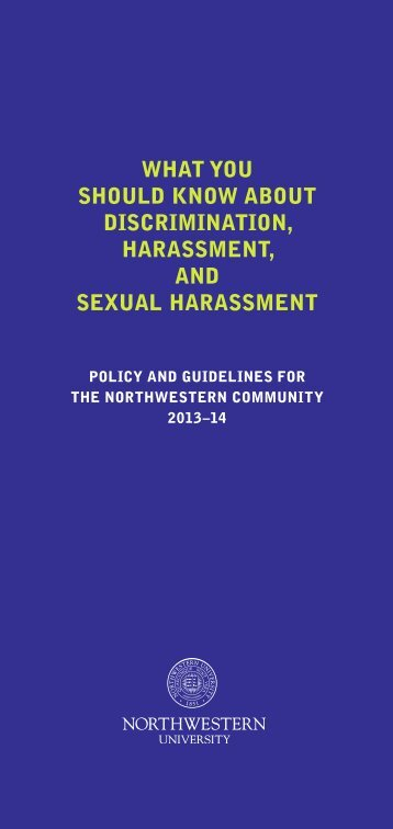 what you should know about discrimination, harassment, and sexual ...