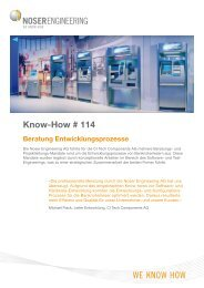 Know-How # 114 - Noser Engineering AG