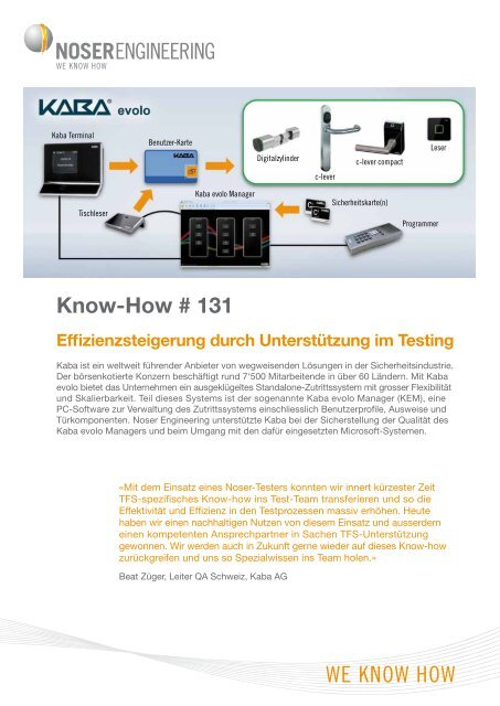 Know-How # 131 - Noser Engineering AG