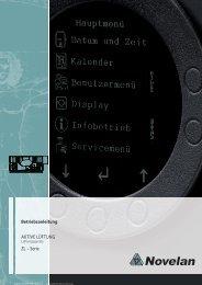 Betriebsanleitung Aktive Lüftungsgeräte (ZL Serie) - Novelan