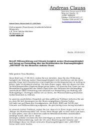 Schriftverkehr Clauss-Ordnungsamt Willenserklärung - Novertis