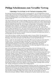 Rede von Scheidemann zum Versailler Vertrag - Novertis