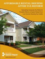 Affordable Rental Housing After Tax Reform - Novogradac ...