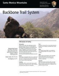 The Backbone Trail map - National Park Service