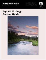 Aquatic Ecology Teacher Guide - National Park Service