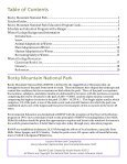 Winter Ecology Teacher Guide - National Park Service - Page 3