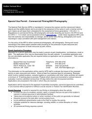 Commercial Filming/Photography Information - National Park Service