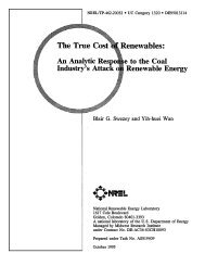 The True Cost of Renewables: An Analytic Response to the ... - NREL