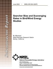Searcher Bias and Scavenging Rates in Bird-Wind Energy ... - NREL