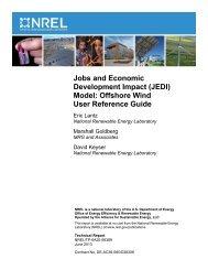 (JEDI) Model: Offshore Wind User Reference Guide - NREL