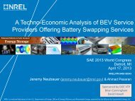 A Techno-Economic Analysis of BEV Service Providers ... - NREL