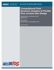 Computational Fluid Dynamics Analysis of Flexible Duct ... - NREL