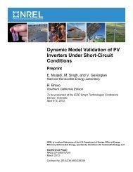 Dynamic Model Validation of PV Inverters Under Short ... - NREL