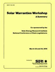 Solar Warranties Workshop: A Summary - NREL
