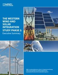 The Western Wind and Solar Integration Study Phase 2 ... - NREL