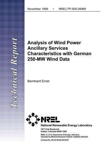 Analysis of Wind Power Ancillary Services Characteristics ... - NREL