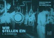 4. – 18. november 2013 perspektiven und entwürfe von arbeit im film