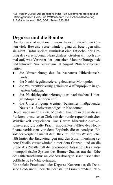 Degussa und die Bombe - VVN/BdA NRW