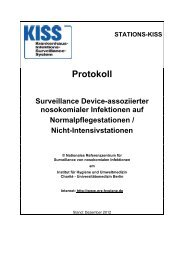 Protokoll für Infektions-Surveillance - Nationales Referenzzentrum ...