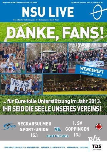klicken zum Download unseres Stadionmagazines - Neckarsulmer ...