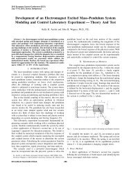 An Electromagnet Excited Mass–Pendulum System Laboratory ...