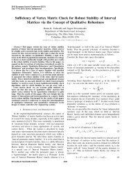 Sufficiency of Vertex Matrix Check for Robust Stability of Interval ...