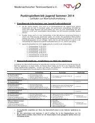 Punktspielbetrieb Jugend Sommer 2014 - Niedersächsischer ...