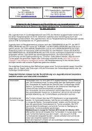 Kriterien für die Zulassung und Durchführung von Jugendturnieren ...