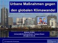 Urbane Maßnahmen gegen den globalen Klimawandel