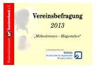 NTV-Vereinsbefragung 2013 - Niedersächsischer Tennisverband e.V.