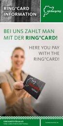 BEI UNs zahlt maN mIt DER ring°card! - Nürburgring